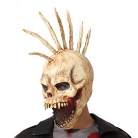 Máscara de Látex Calavera con Cresta de Huesos