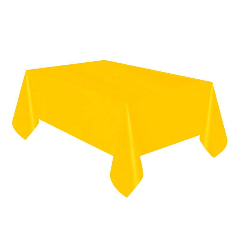 Mantel de plástico amarillo