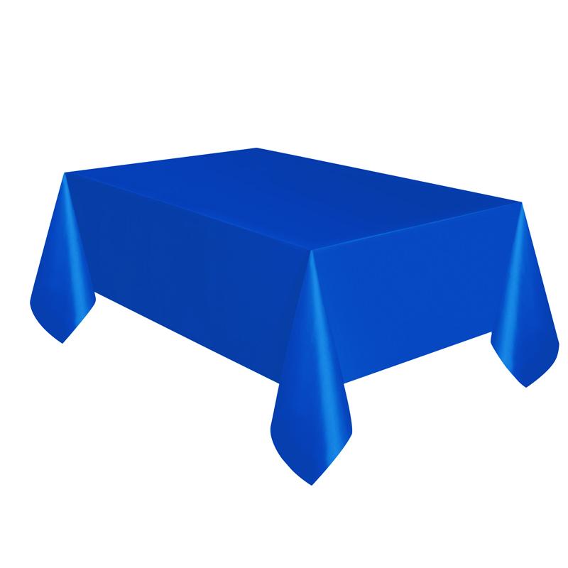 Mantel de Plástico Azul Intenso