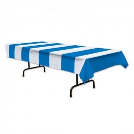 Mantel de Plástico Azul y Blanco
