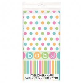 Mantel de Plástico Baby Colores Pastel