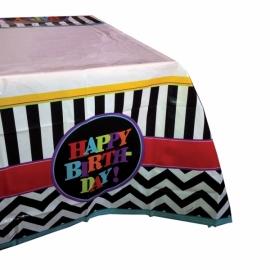 Mantel de Plástico Happy Birthday