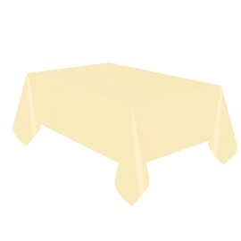 Mantel de Plástico Marfil