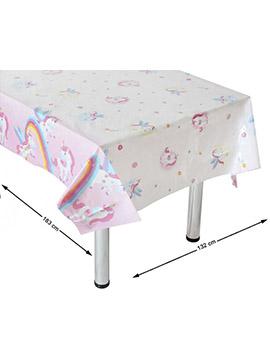 Mantel de Plástico Unicornio Arcoíris
