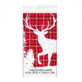Mantel Plástico Rectangular Reno Navidad