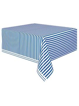 Mantel de Plástico Rayas Azul Royal