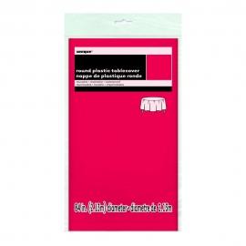 Mantel de Plástico Redondo Rojo 213 cm