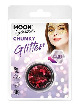 Maquillaje Glitter Rojo Confetti