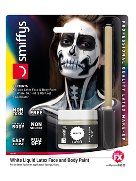 Maquillaje Látex Líquido Blanco 59 ml
