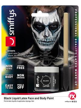 Maquillaje Látex Líquido Negro 59 ml