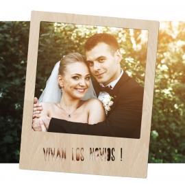 Marco de madera para Photocall Vivan los Novios