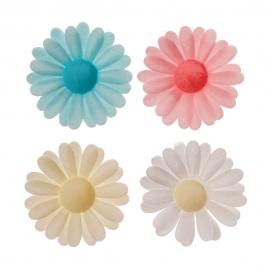 Set de 150 Flores de Oblea Margaritas 4,5 cm