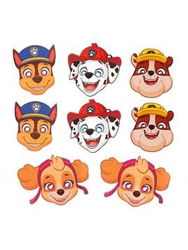 Set de 8 máscaras de Patrulla Canina