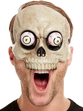 Media Máscara Esqueleto Ojos Móviles