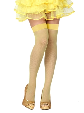 Medias Liga de Rejilla Amarillas