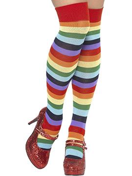 Medias Rayas Multicolor Payaso