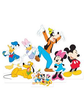 Set de 7 unidades para decorar mesas dulces de Mickey Mouse y amigos