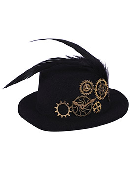 Mini Sombrero Negro Steampunk