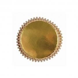 Mini Cápsulas para Cupcakes Oro Metálico 45 ud