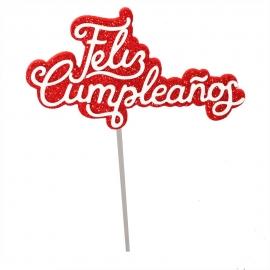 Mini Toppers Feliz Cumpleaños 10 cm 6 ud