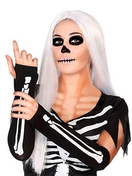 Mitones Negros Esqueleto