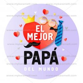 Papel de Azúcar Día del Padre modelo F 20 cm