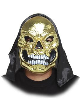 Máscara Calavera Dorada con Capucha