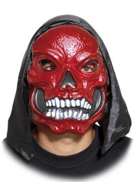 Máscara Calavera Roja con Capucha