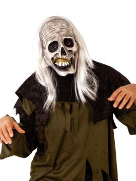Máscara Zombie Esqueleto con Peluca