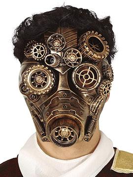 Máscara Gas Dorada Steampunk