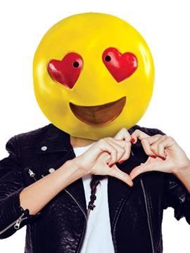 Máscara Emoticón / Emoji Corazones