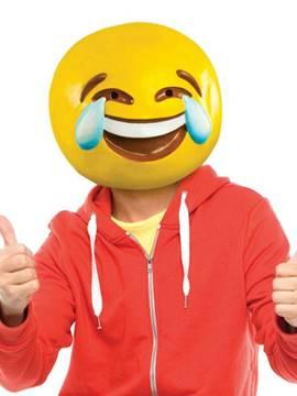 Máscara Emoticón Lágrimas de Alegría