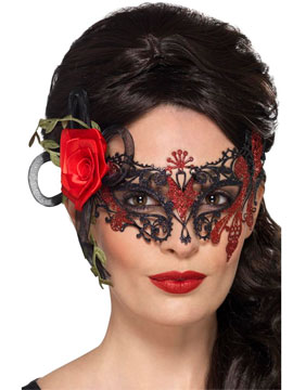 Máscara Metálica Día de los Muertos