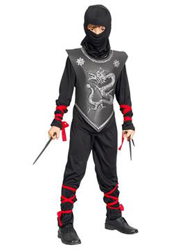 Disfraz Niño Ninja Dragón Plateado Infantil