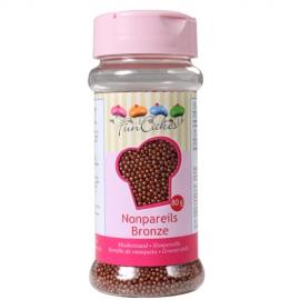 Nonpareils color Bronce Funcakes