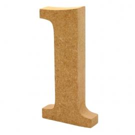 Número 1 de Madera 12cm