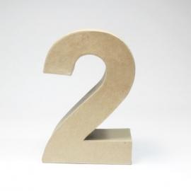 Número 2 de Cartón 17cm