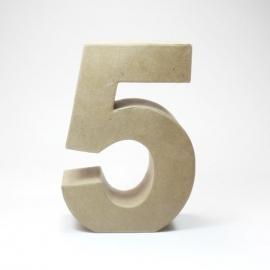 Número 5 de Cartón 17cm