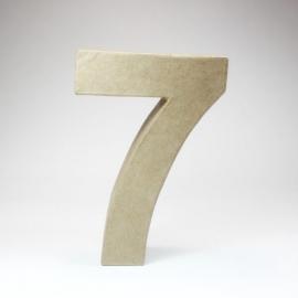 Número 7 de Cartón 17cm