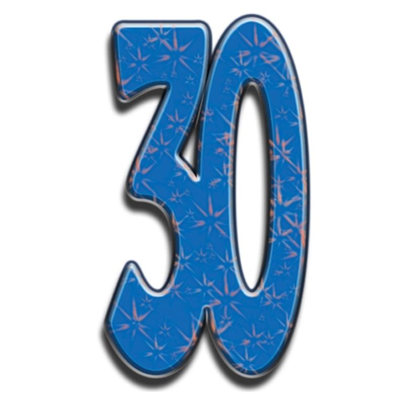 Número Decorativo 30 Años 180cm