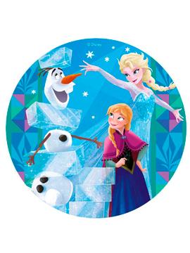 Oblea 20cm Anna, Elsa y Olaf