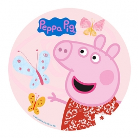 Disco de oblea Peppa Pig Mariposas