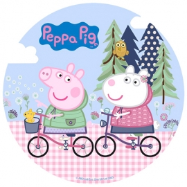 Oblea Peppa Pig y Susy 20cm