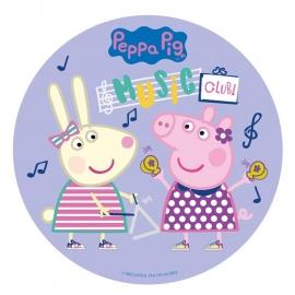 Oblea redonda Peppa Pig 20 cm Modelo C