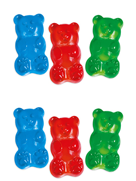 Bolsa de 1 kilo de osos xxl de gominola de diferentes sabores