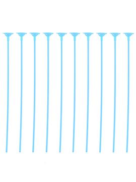Pack 10 Palitos con Soporte para Globos Color Azul
