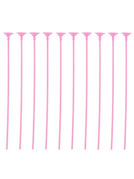 Pack 10 Palitos con Soporte para Globos Color Rosa