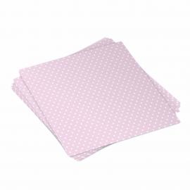 Pack 20 servilletas rosas con lunares
