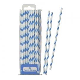 Pack 30 pajitas tonos azules