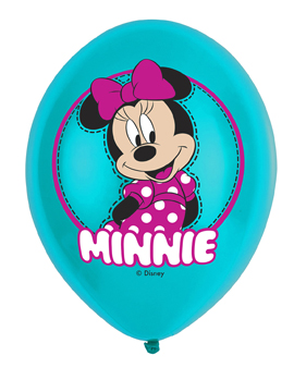 Pack 6 globos de latex Minnie Mouse